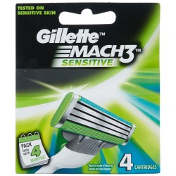 Gillette Mach3 Sensitive 4τμχ