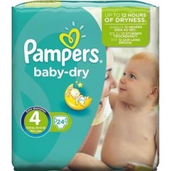 Pampers Baby Dry No 4+ (9-20Kg) 24τμχ