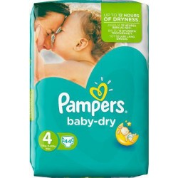 Pampers Baby Dry No 4+  (9-18Kg) 41τμχ